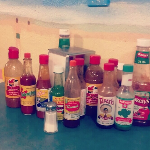 The sauce situation.