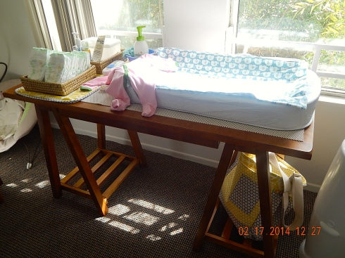 Margot's changing table.