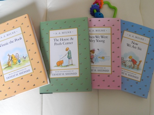 The complete A.A. Milne book set.