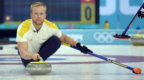 This is Niklas Edin. He's skip (captain) of the Swedish men's curling team.