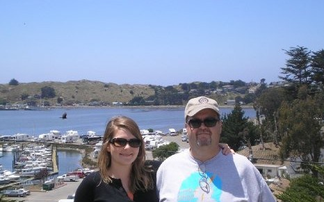 Dad and I in Bodega Bay in 2009.
