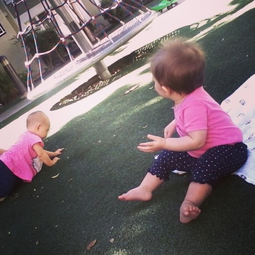 Making friends goes two ways. Margot meets other babies, we meet other parents. Hopefully someone hits it off.