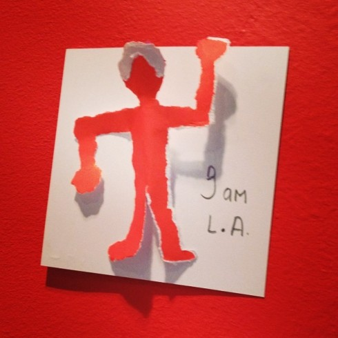 The Hammer asks patrons to use post-its to express what L.A. means to them...