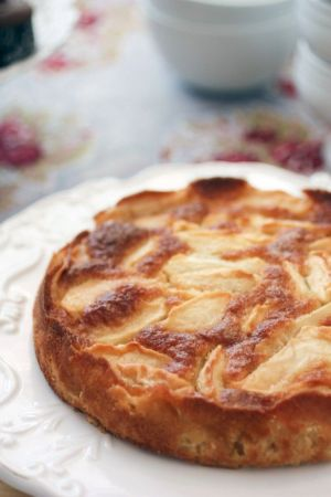 French apple cake recipe and photo via For the Feast.
