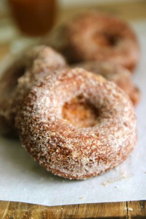 Apple cider donut photo and recipe via Everyday Occasions by Jenny Steffens Hobick