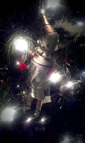 One of Mike's favorite ornaments. The Tin Man.