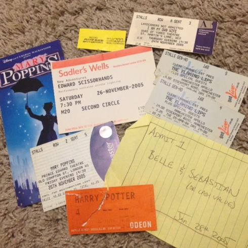 Souvenirs  from England: Mary Poppins in the West End, Harry Potter 4 in Newcastle, Belle & Sebastian, etc...